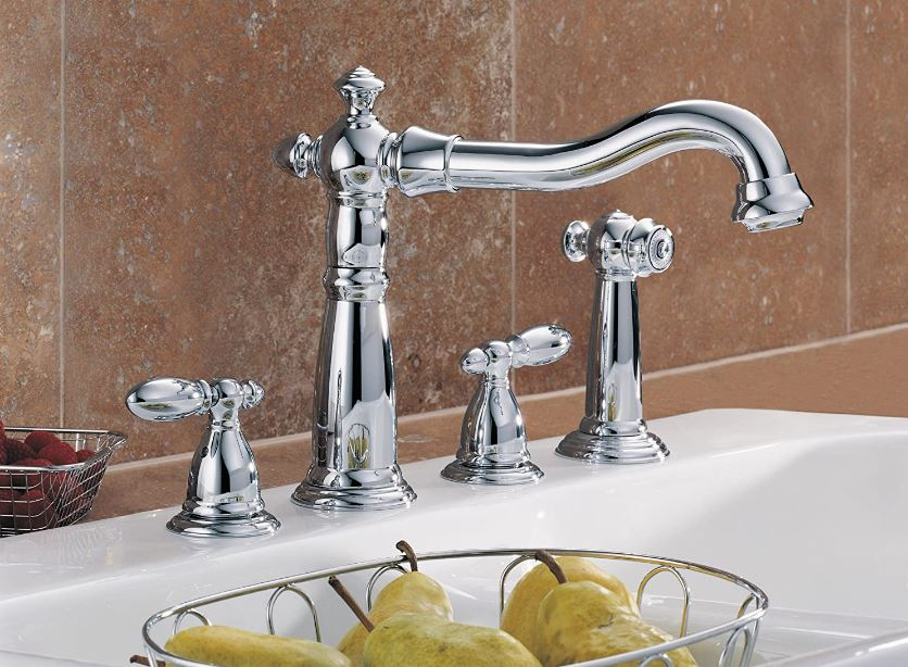 Delta's Victorian chrome, two-handle side-spray faucet
