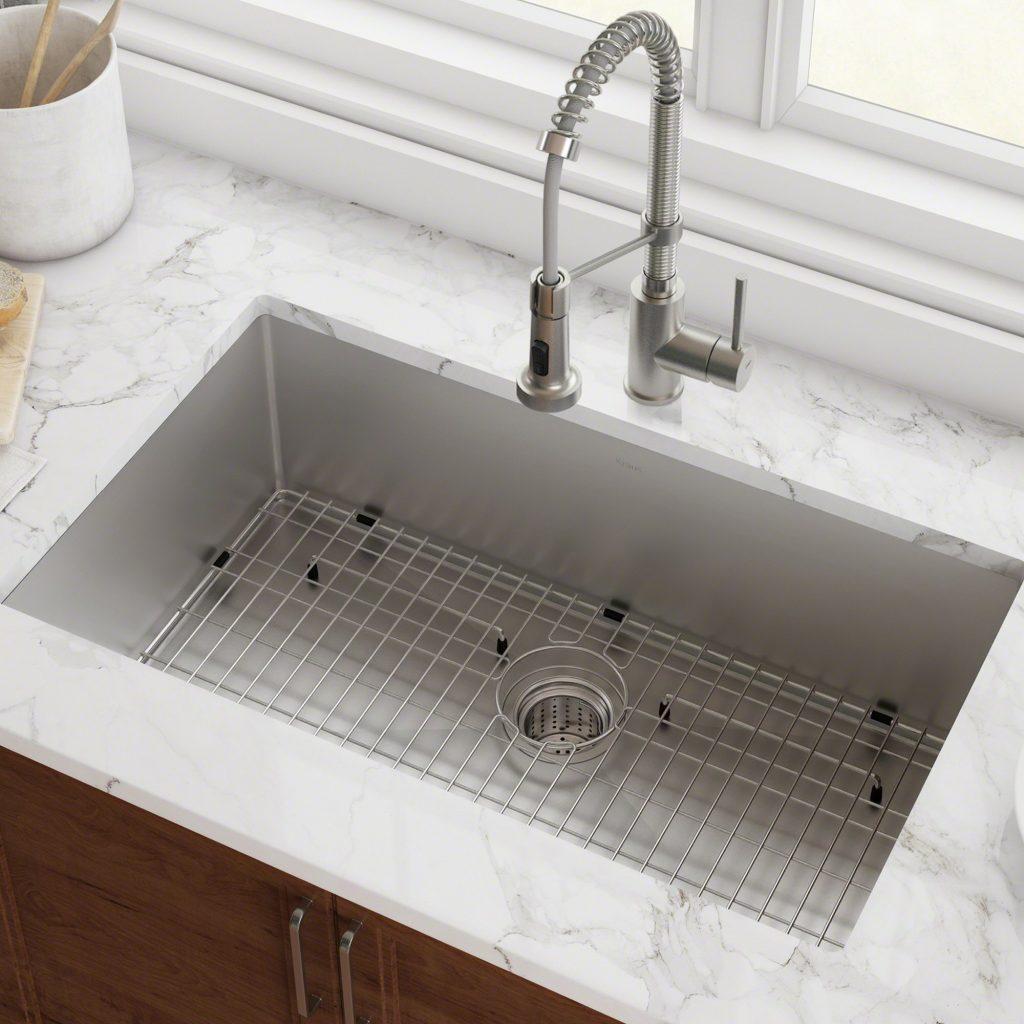 Kraus Standart Pro 16 Gauge Undermount Single Bowl Stainless Steel Kitchen Sink