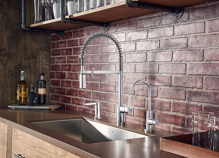 Moen's Align one-handle, pre-rinse pull-down faucet