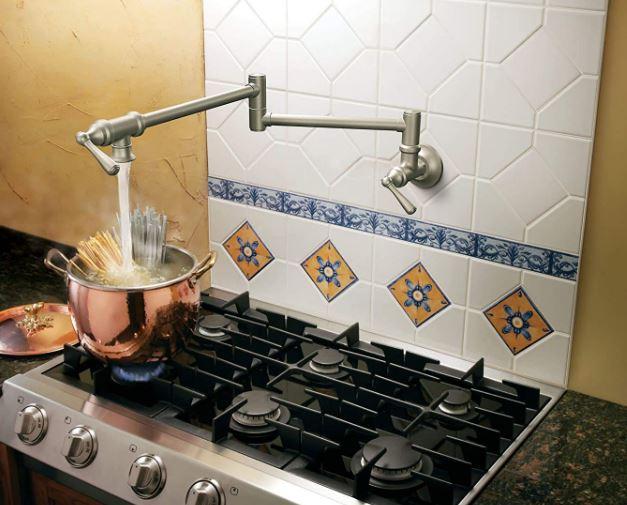 Moen's folding swing arm pot filler faucet