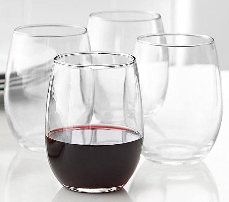Amazon Basics stemless wine glasses