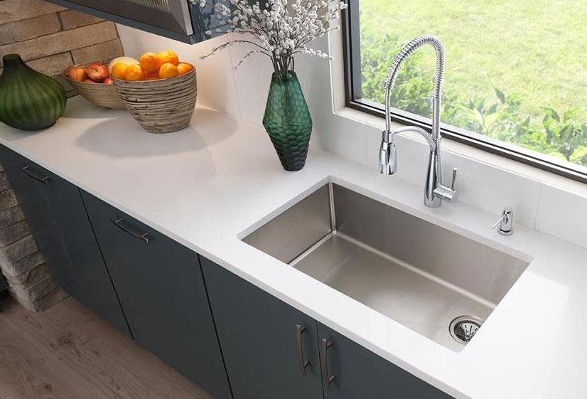 Elkay Crosstown single-bowl zero-radius stainless steel undermount sink