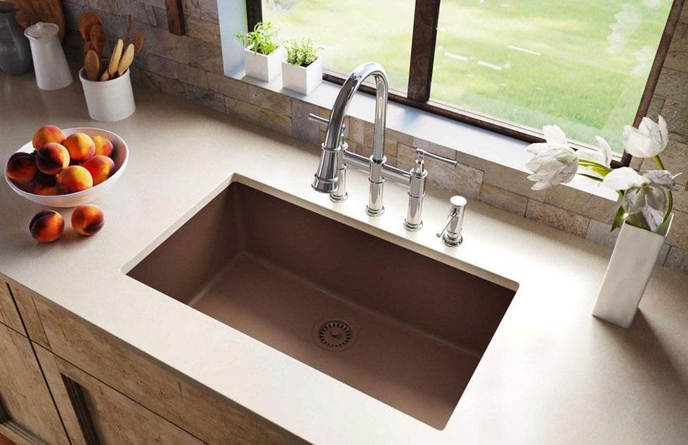Elkay quartz classic mocha single-bowl undermount sink