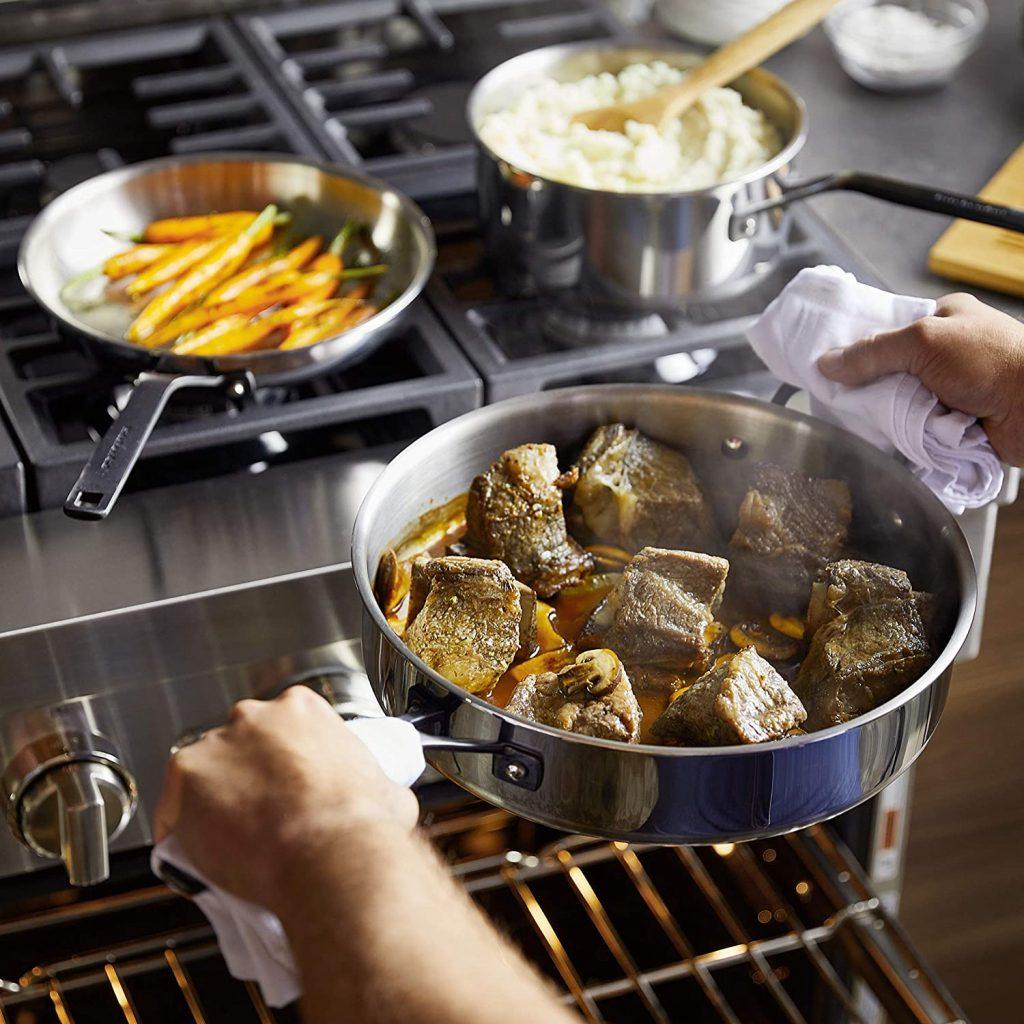 KitchenAid stainless steel cookware set