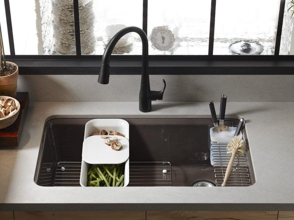 Kohler Riverby single-bowl porcelain-enameled undermount sink