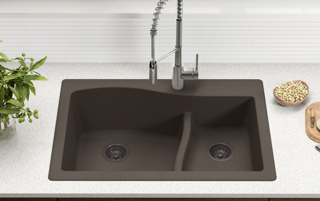 Kraus Quarza double-bowl granite composite sink