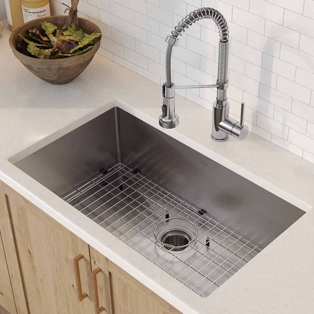 Kraus single-bowl stainless steel undermount sink