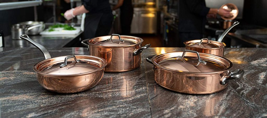 Matfer Bourgeat copper cookware set