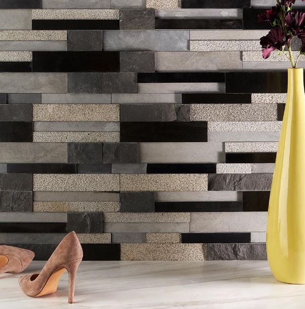 Cliffstone's Brushed Granite Mosaic Tile