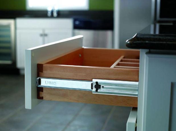 Everbilt's soft-close full extension side mount ball-bearing drawer slide set