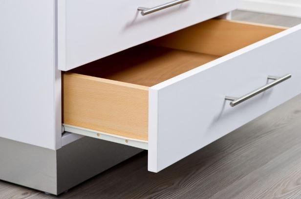Everbilt's soft-close roller bottom mount roller drawer slide set