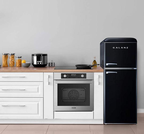 Galanz's 4.6 cubic foot double door retro mini fridge