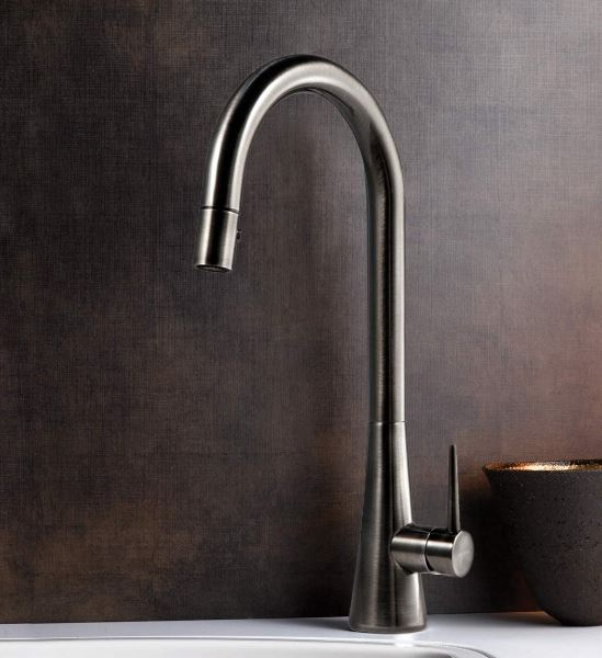 Houser's Pull Down Faucet, Pewter