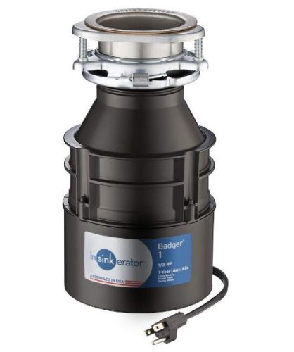 InSinkErator's Badger continuous feed garbage disposal with cord