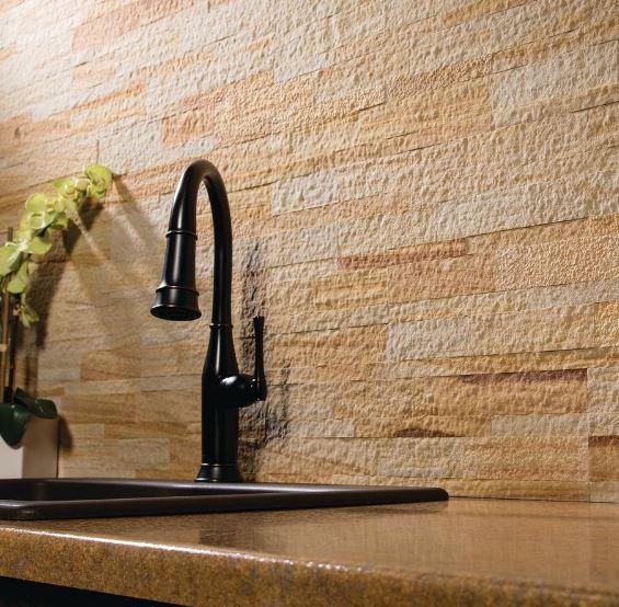 MSI's Malibu Golden quartizite panel tiles