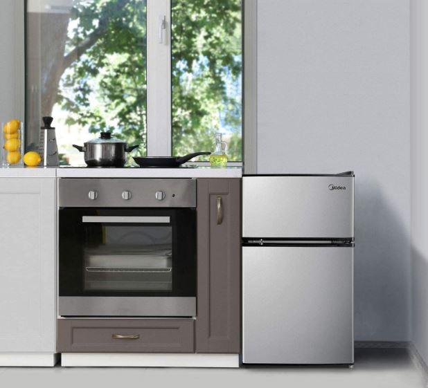 Midea's 3.1 cubic foot mini fridge with freezer