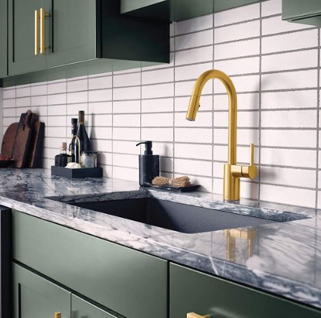 Moen's Align Pulldown Faucet, Brushed Gold