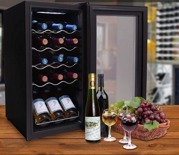 NutriChef's 15-bottle wine cooler