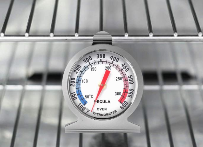 Pecula's stainless steel oven thermometer