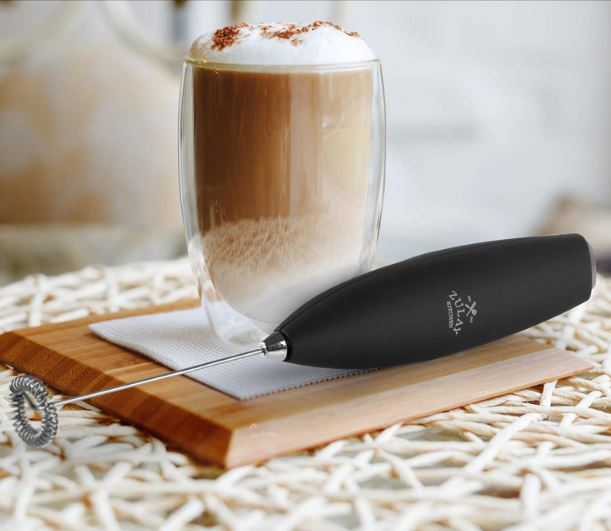 Zulay Kitchen's battery-operated New Titanium Motor Milk frother