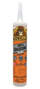 Gorilla Clear Silicone Sealant Caulk