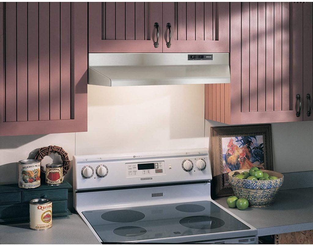 Broan-NuTone's 36-inch white under-cabinet range hood