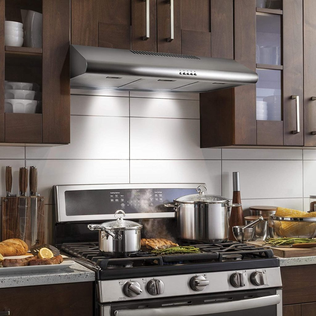 Cosmo's 36-inch stainless steel convertible under-cabinet range hood