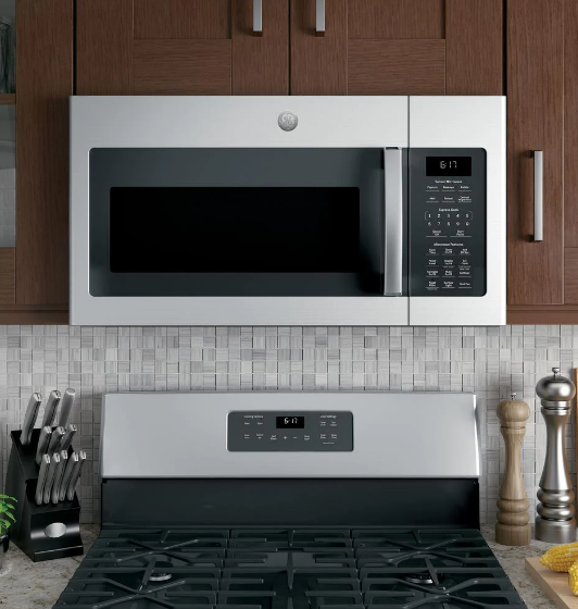 GE's 1.7 cubic-foot over-the-range microwave