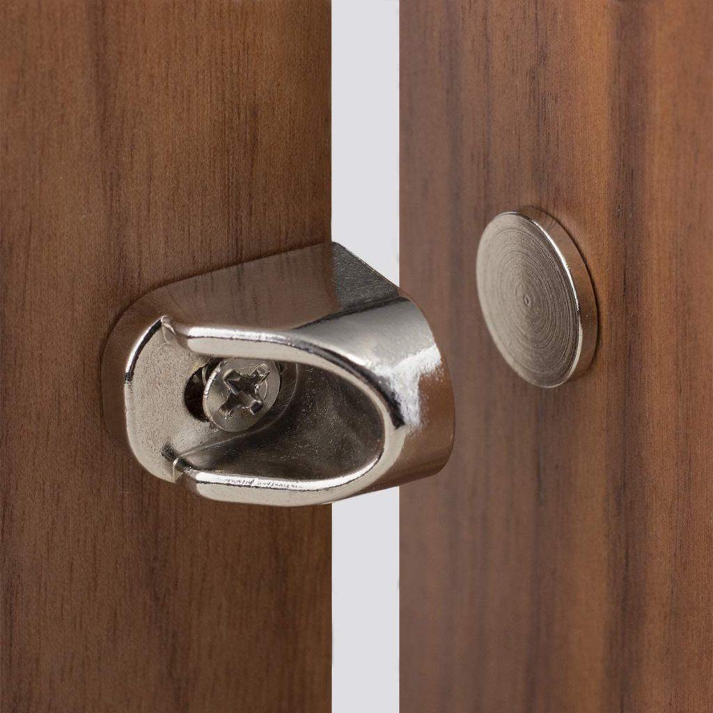Keenkee's 4PCS Magnetic Cabinet Door Catches, Nickel Finish