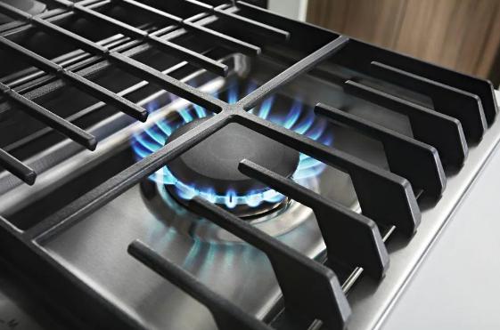 KitchenAid's 30-inch downdraft gas cooktop