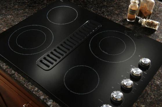 KitchenAid's 30-inch electric downdraft cooktop