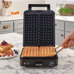Krups' 4-waffle Belgian waffle maker with removable plates
