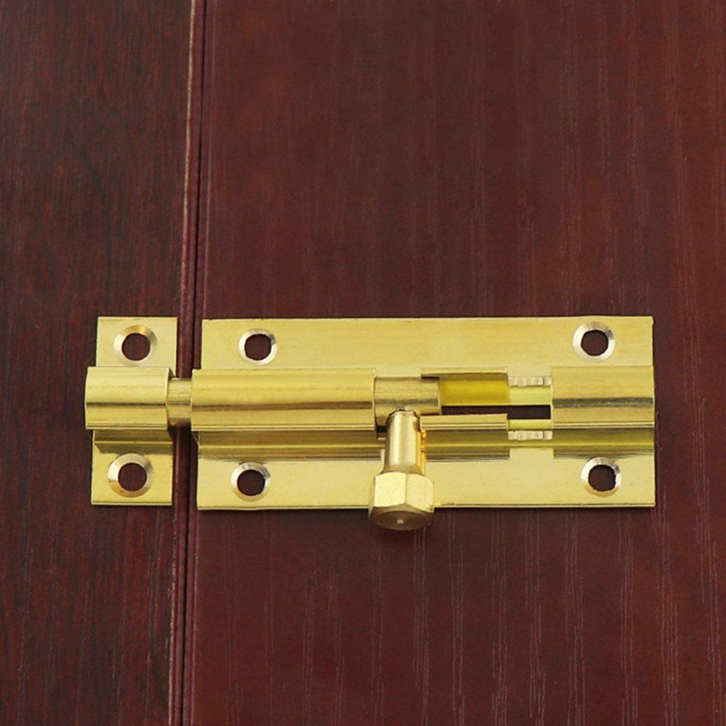 Semetall's Small Security Slide Latch, Goldtone Finish
