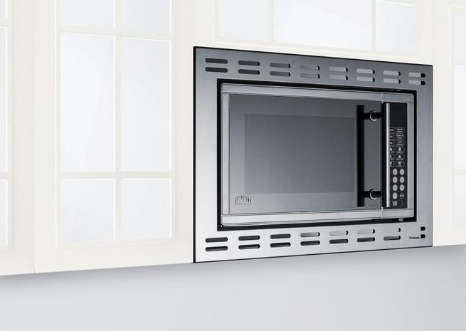 Summit Appliances' stainless steel, 0.9 cubic foot built-in microwave