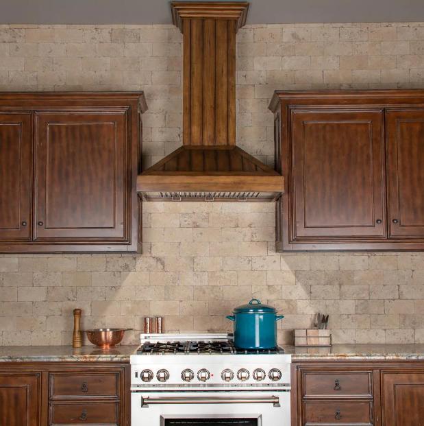 ZLINE's 36-inch wooden wall-mount range hood