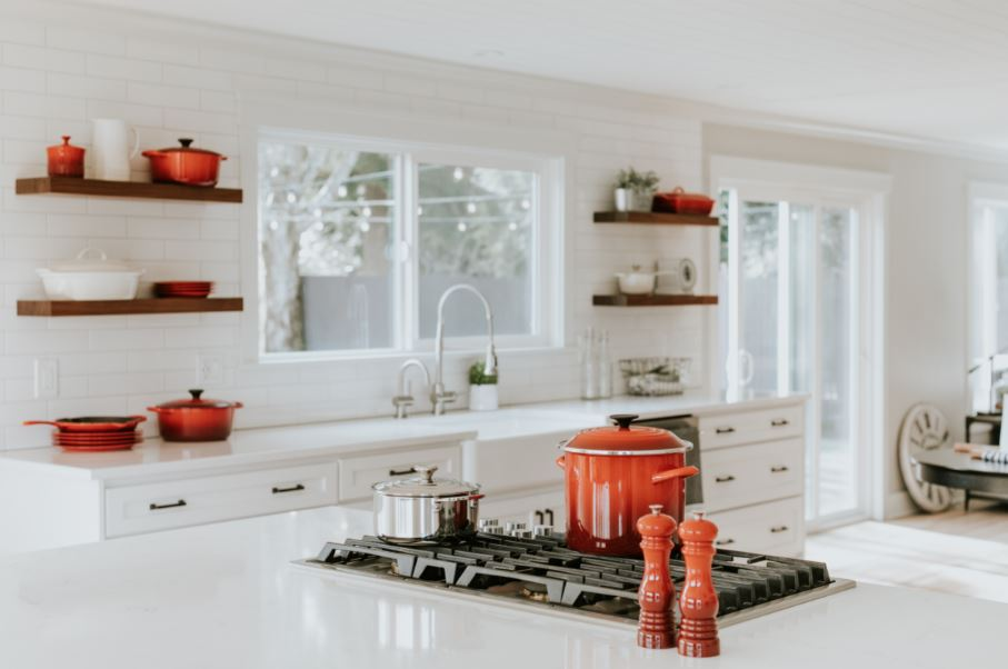kitchen with double bar pulls