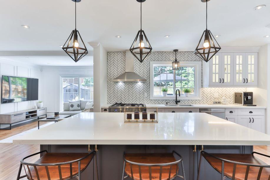 modern kitchen with black matte hardware