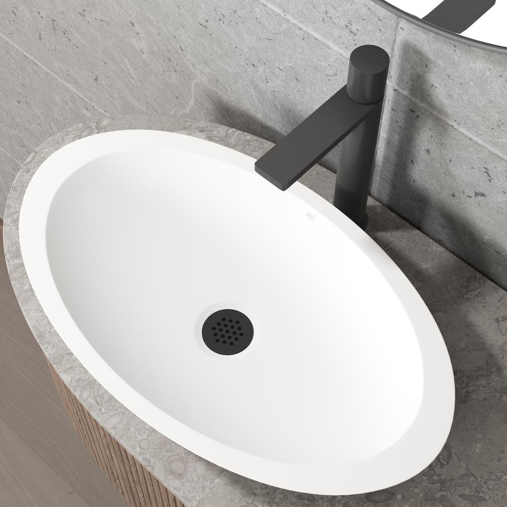 vessel bathroom sink drain in matte black